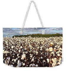 Cotton Field In South Carolina Weekender Tote Bag