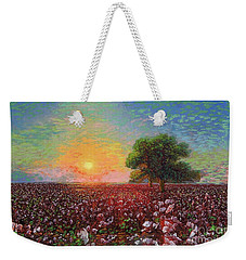 Cotton Field Sunset Weekender Tote Bag