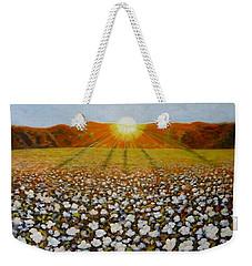 Cotton Field Sunset Weekender Tote Bag