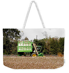 Cotton Picker Weekender Tote Bag by Donna Brown