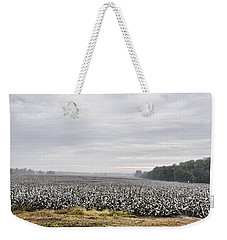 Weekender Tote Bag featuring the photograph Cotton Under The Mist by Jan Amiss Photography