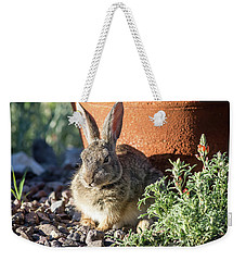 Cottontail Rabbit In The Garden Weekender Tote Bag