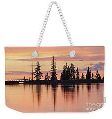 Cottonwood Sunset Lake Reflections  Weekender Tote Bag
