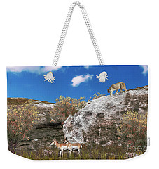 Cougar From Above Weekender Tote Bag by Walter Colvin