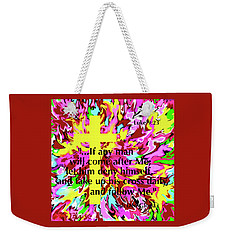Counting The Cost Weekender Tote Bag