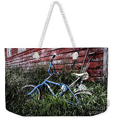 Weekender Tote Bag featuring the photograph Country Bicycle by Brad Allen Fine Art
