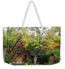 Weekender Tote Bag featuring the photograph Country Chapel by Jerry Battle