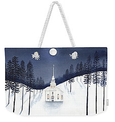 Country Church In Moonlight 2, Silent Night Weekender Tote Bag