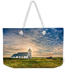 Country Church Sunrise Weekender Tote Bag