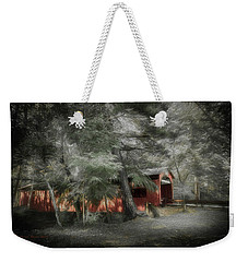 Weekender Tote Bag featuring the photograph Country Crossing by Marvin Spates