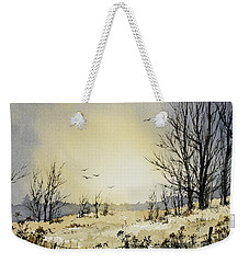 Weekender Tote Bag featuring the painting Country Dawn by James Williamson