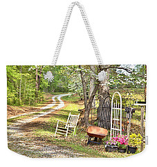 Weekender Tote Bag featuring the photograph Country Driveway In Springtime by Gordon Elwell