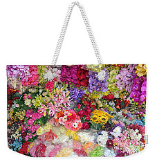 Country Flower Garden Colourful Design Weekender Tote Bag