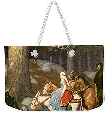 Country Folk Wending Their Way To The Tourney Weekender Tote Bag by Newell Convers Wyeth
