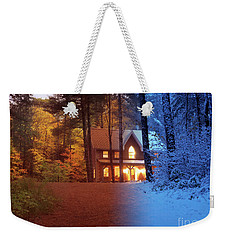 Country House Between Fall And Winter Seasons Artistic Concept Weekender Tote Bag