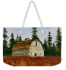 Weekender Tote Bag featuring the painting Country Landscape by James Williamson