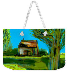 Weekender Tote Bag featuring the painting Country Landscape by Jim Vance