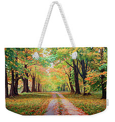 Country Lane - A Walk In Autumn Weekender Tote Bag