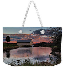 Weekender Tote Bag featuring the photograph Country Living Sunset by Lara Ellis