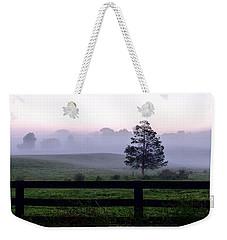 Country Morning Fog Weekender Tote Bag