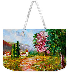 Country Pathway In Greece Weekender Tote Bag