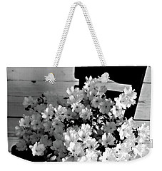 Country Porch In B And W Weekender Tote Bag by Sherry Hallemeier