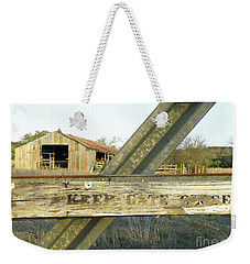 Weekender Tote Bag featuring the photograph Country Quiet by Joe Jake Pratt