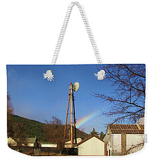 Country Rainbow Weekender Tote Bag by Mary Ellen Frazee