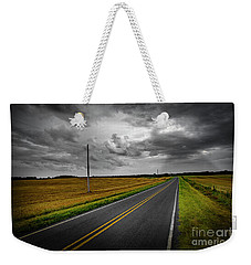 Weekender Tote Bag featuring the photograph Country Road by Brian Jones