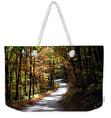 Weekender Tote Bag featuring the photograph Country Road by David Dehner