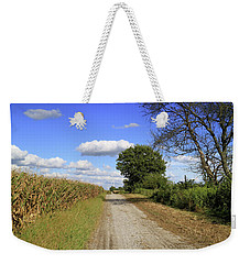 Country Road In Benton County, Indiana Weekender Tote Bag