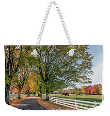 Country Road In Rural Maryland During Autumn Weekender Tote Bag