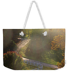 Weekender Tote Bag featuring the photograph Country Road In Rural Virginia, With Trees Changing Colors In Autumn by Emanuel Tanjala