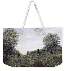 Country Road Weekender Tote Bag by Judy Kirouac