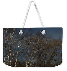 Country Roadside Birch Weekender Tote Bag