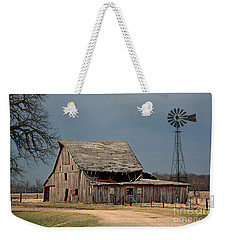Country Roof Collapse Weekender Tote Bag