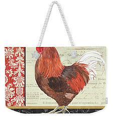 Country Rooster 2 Weekender Tote Bag