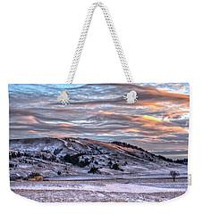 Country Sky Weekender Tote Bag by Fiskr Larsen