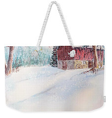 Country Snowscape Weekender Tote Bag