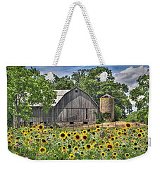Country Sunflowers Weekender Tote Bag by Lori Deiter