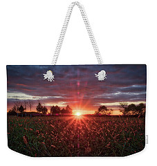 Weekender Tote Bag featuring the photograph Country Sunset by Mark Dodd