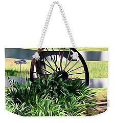 Country Wagon Wheel Weekender Tote Bag