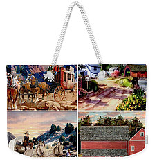 Country Western Gallery Weekender Tote Bag