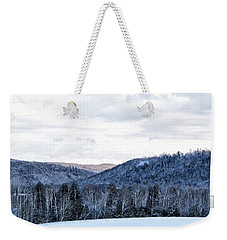 Country Winter Road Weekender Tote Bag