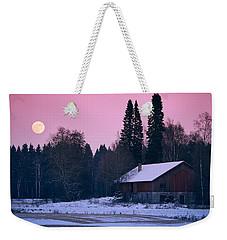Countryside Full Moon Scenery Weekender Tote Bag