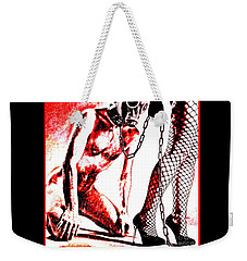 Couple Nude In Bdsm Play And Image Finished In Digital Dots Art  Weekender Tote Bag