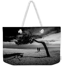 Weekender Tote Bag featuring the photograph Couple On Cabrillo Beach By Los Angeles California by Randall Nyhof