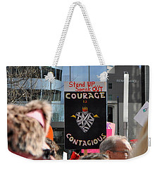 Courage Is Contagious Weekender Tote Bag