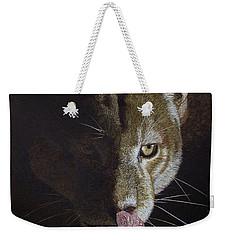 Cougar Night Weekender Tote Bag by Kathie Miller