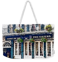 Weekender Tote Bag featuring the painting Court Of The Two Sisters by Barbara Chichester